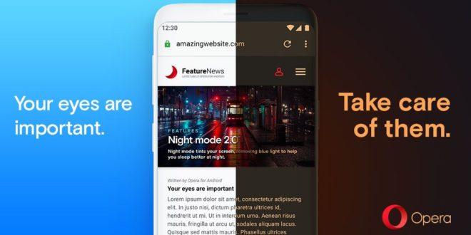 """النسخة الأخيرة من متصفح """"Opera"""" للأندرويد تتيح الوضع المظلم على جميع صفحات الويب"""